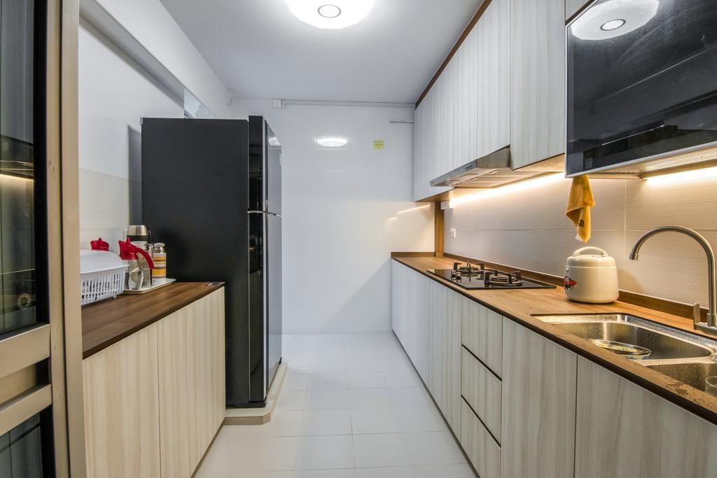 Contemporary, HDB, Kitchen, Rivervale Crescent, Interior Designer, 9 Creation