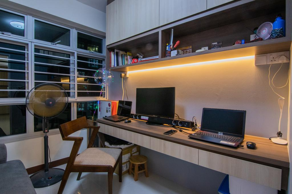Contemporary, HDB, Study, Rivervale Crescent, Interior Designer, 9 Creation