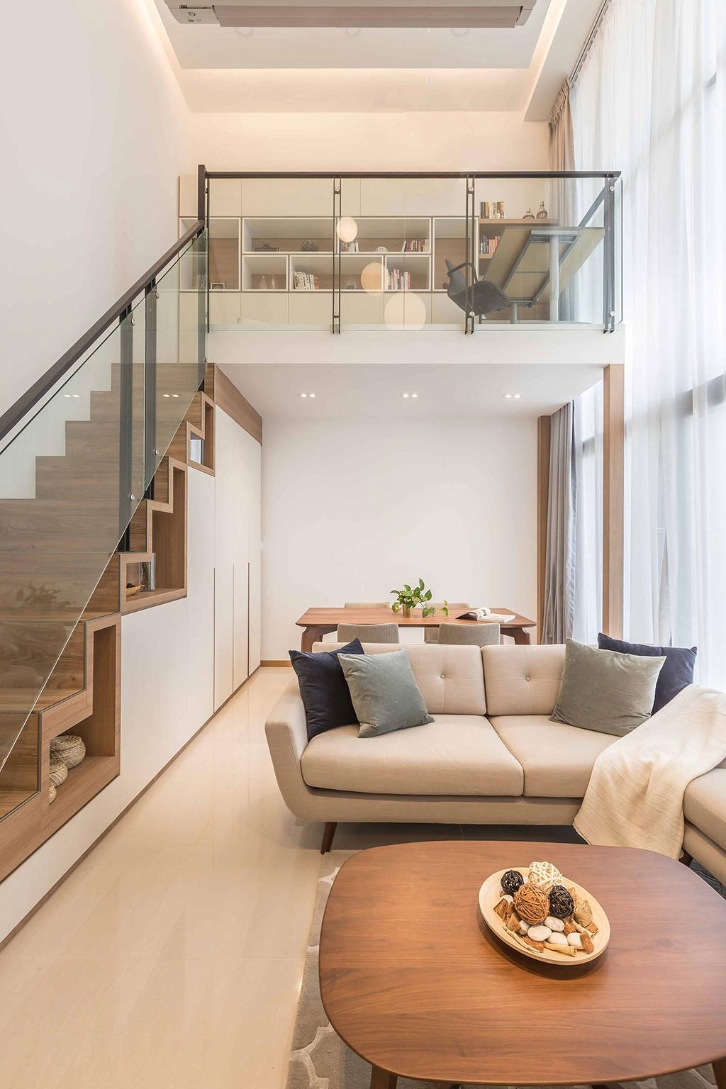 Contemporary, Condo, Living Room, The Trilinq, Interior Designer, Icon Interior Design, Loft