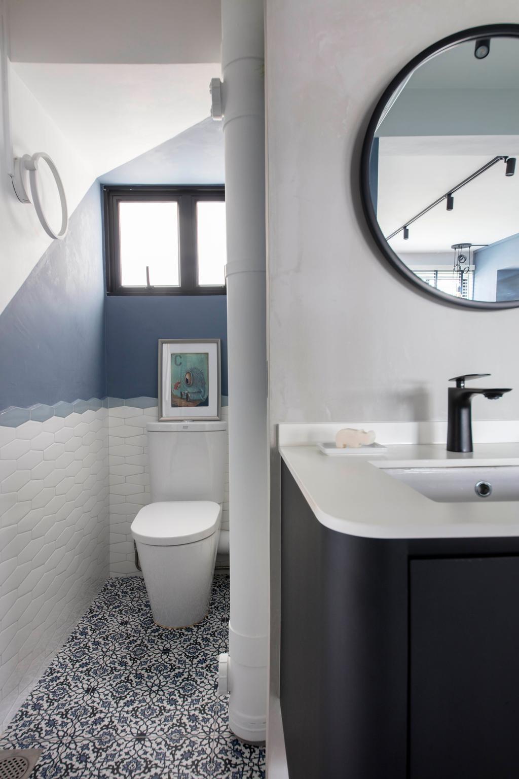 Contemporary, HDB, Bathroom, Lorong 2 Toa Payoh, Interior Designer, Free Space Intent