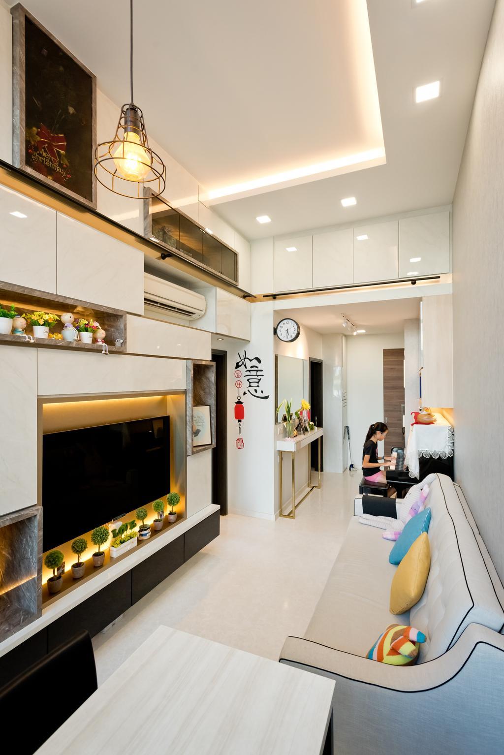 Contemporary, Condo, Living Room, Jade Residences, Interior Designer, Klein Interiors