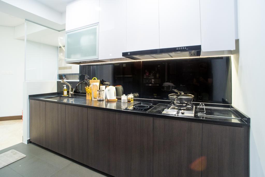 Transitional, Condo, Kitchen, Parc Oasis, Interior Designer, Klein Interiors