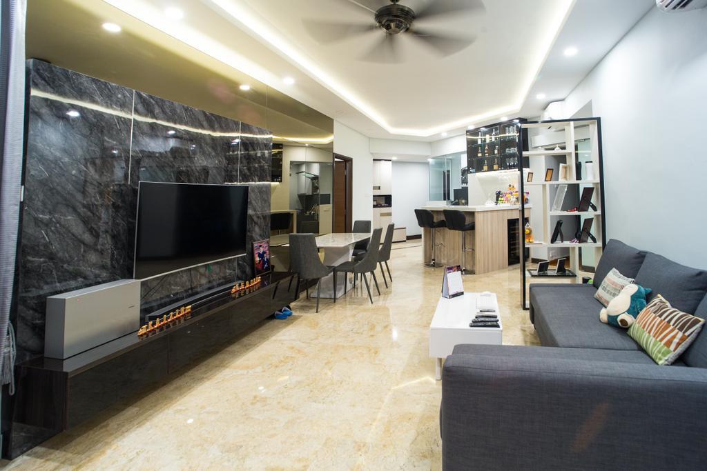 Transitional, Condo, Living Room, Parc Oasis, Interior Designer, Klein Interiors