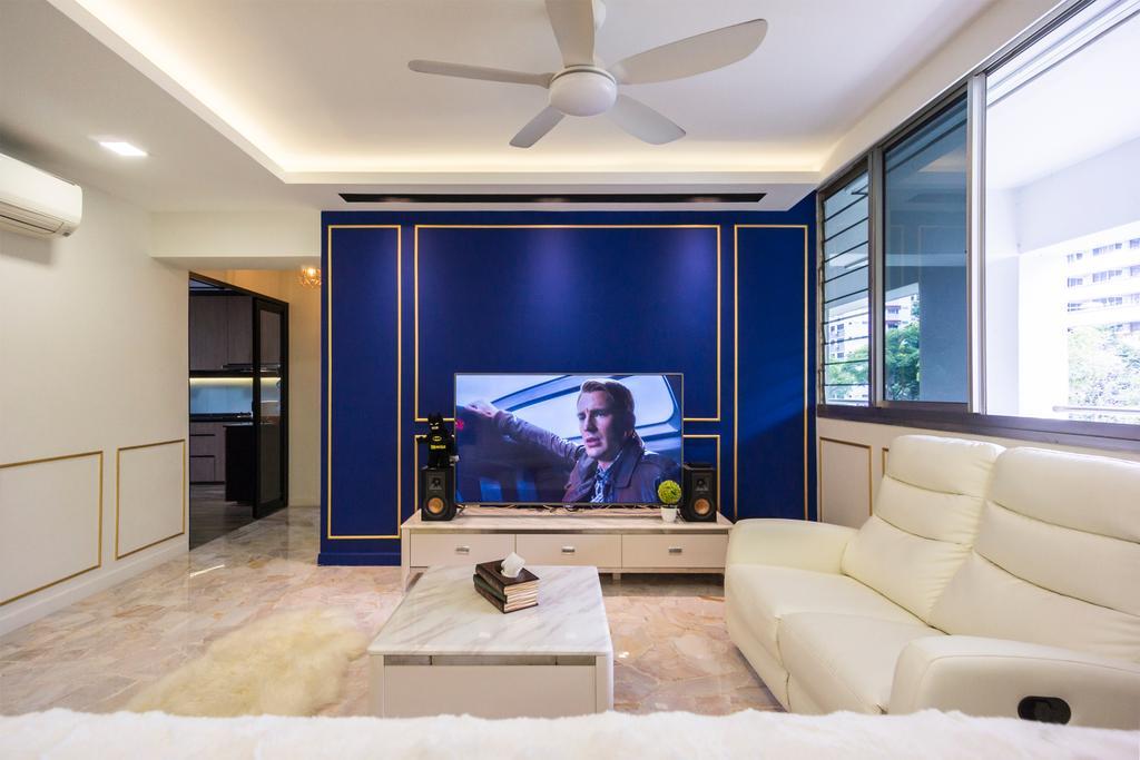 Modern, HDB, Living Room, Pasir Ris Drive 6, Interior Designer, Flo Design, Contemporary
