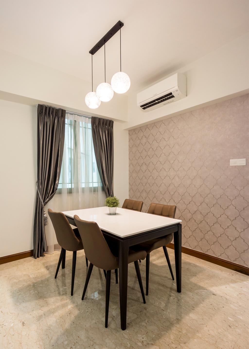 Contemporary, Condo, Dining Room, Palm Gardens, Interior Designer, Flo Design