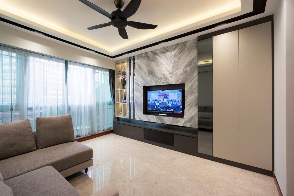 Contemporary, Condo, Living Room, Palm Gardens, Interior Designer, Flo Design