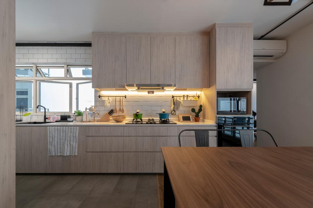 Modern, HDB, Kitchen, Upper Boon Keng Road, Interior Designer, Meter Square, Scandinavian