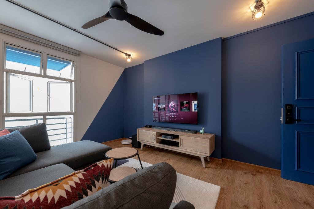 Modern, HDB, Living Room, Upper Boon Keng Road, Interior Designer, Meter Square, Scandinavian