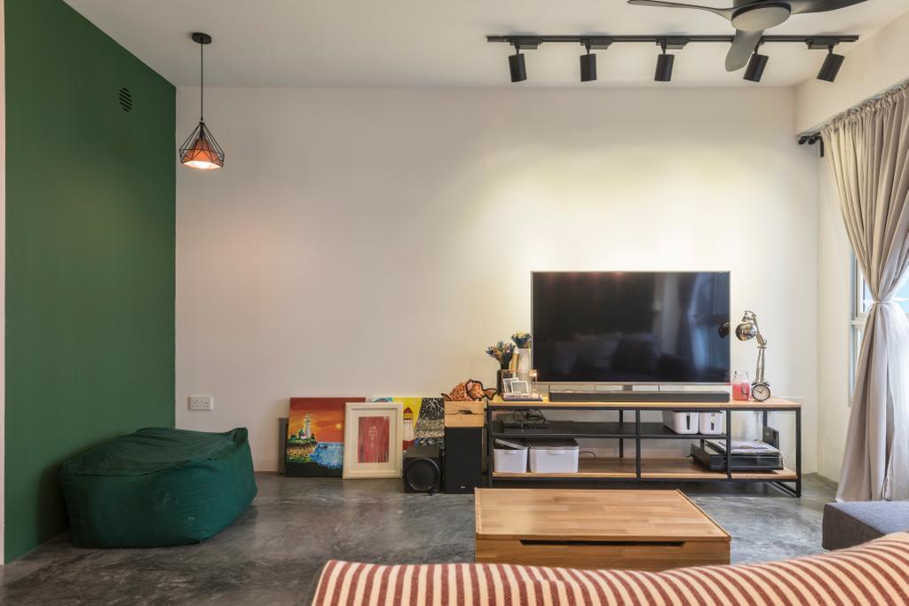 Modern, HDB, Living Room, Upper Aljunied Lane, Interior Designer, Meter Square