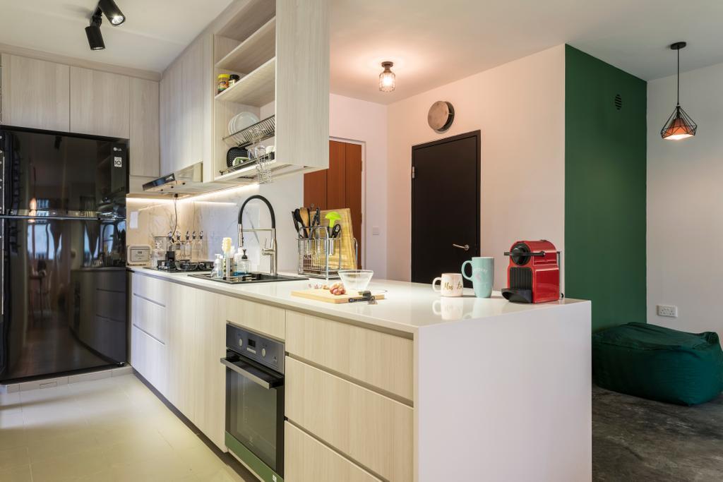 Modern, HDB, Kitchen, Upper Aljunied Lane, Interior Designer, Meter Square