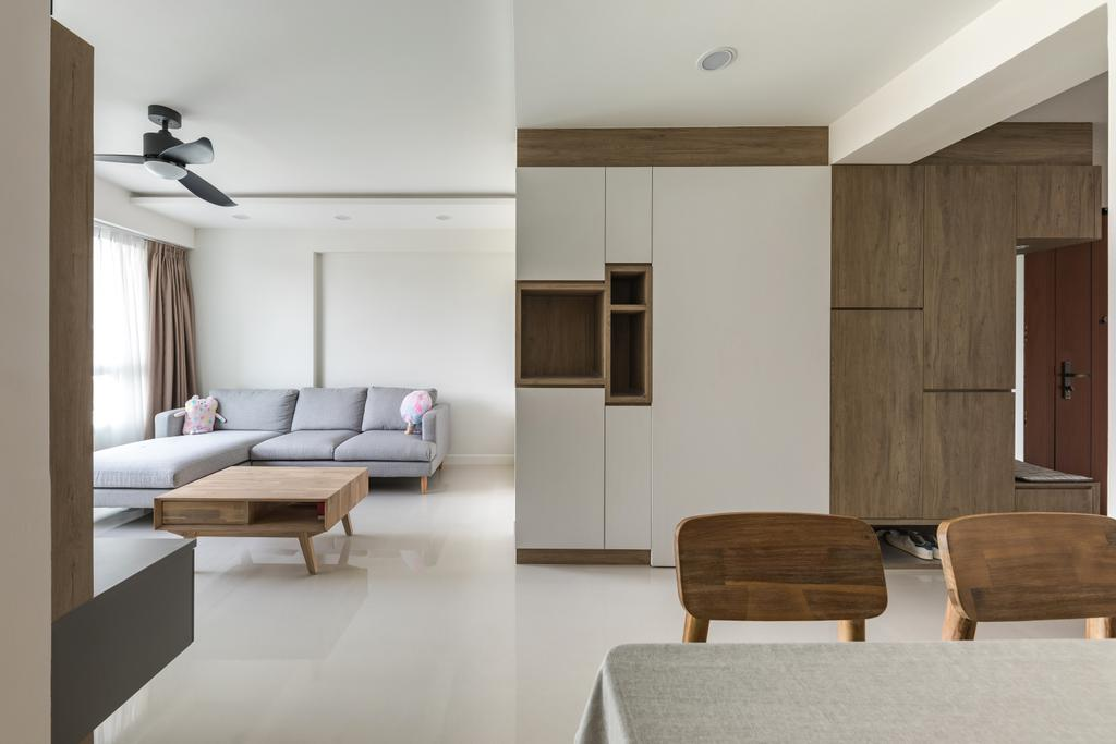 Contemporary, HDB, Living Room, Woodlands Drive 50, Interior Designer, Roughsketch