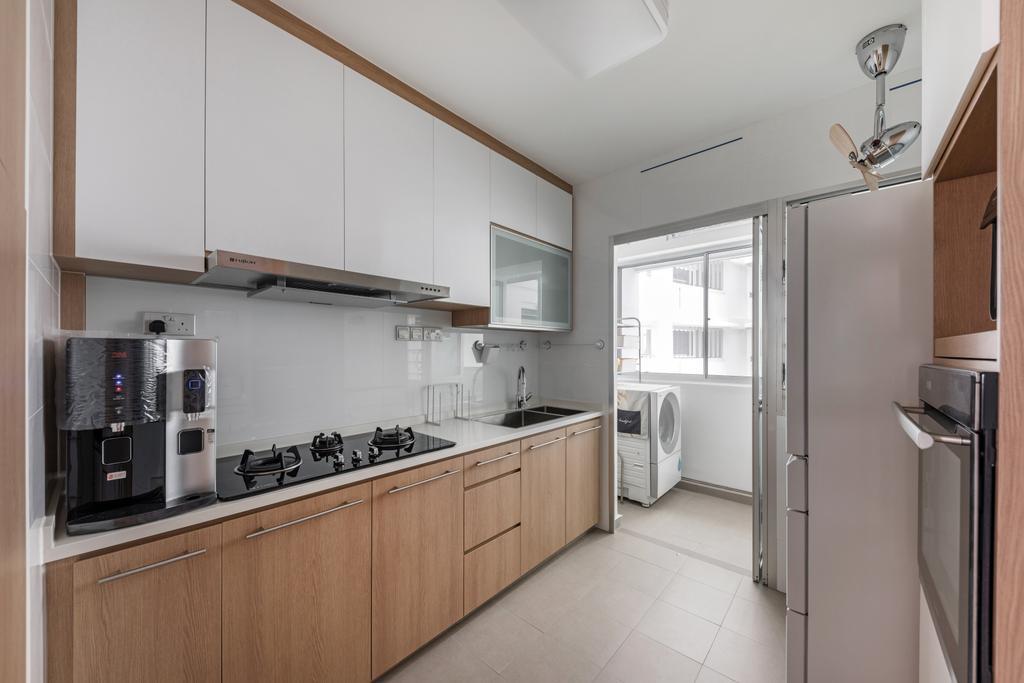 Contemporary, HDB, Kitchen, Woodlands Drive 50, Interior Designer, Roughsketch