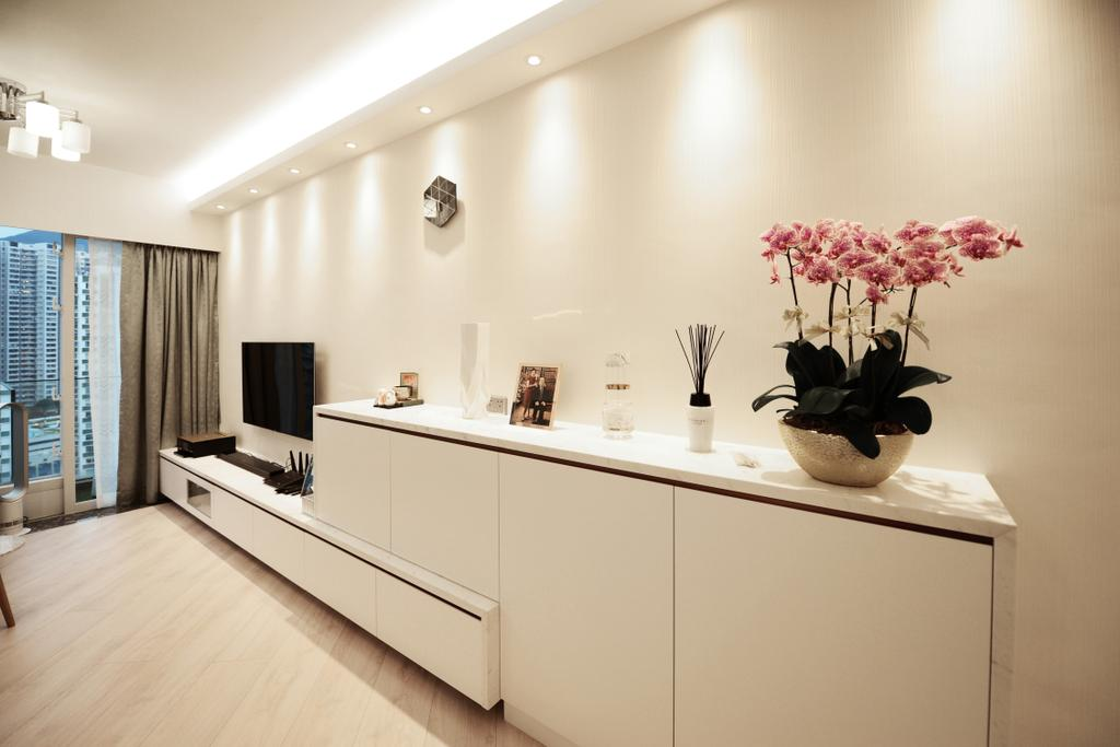 簡約, 私家樓, 客廳, 逸樺園, 室內設計師, 爾雋設計