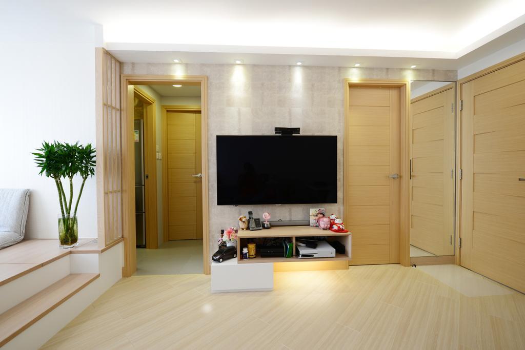 簡約, 私家樓, 客廳, 豐盛苑, 室內設計師, 爾雋設計