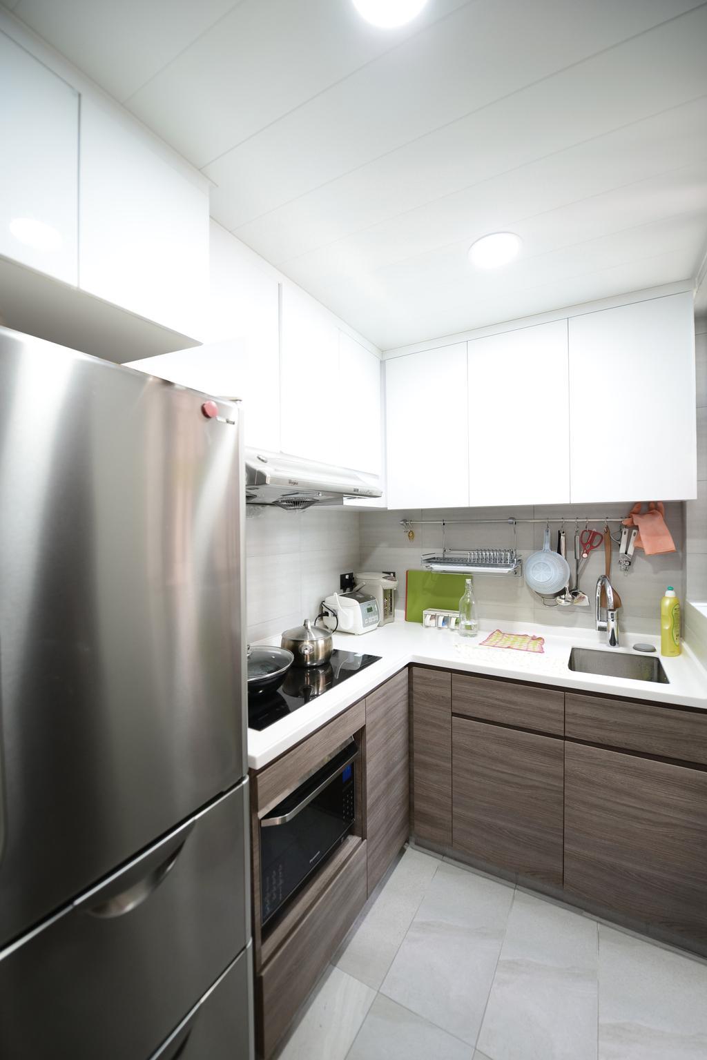簡約, 私家樓, 廚房, 顯峰, 室內設計師, 爾雋設計, 摩登