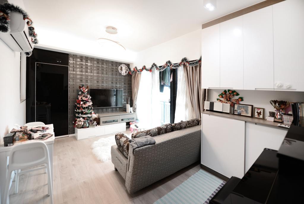 簡約, 私家樓, 客廳, 顯峰, 室內設計師, 爾雋設計, 摩登
