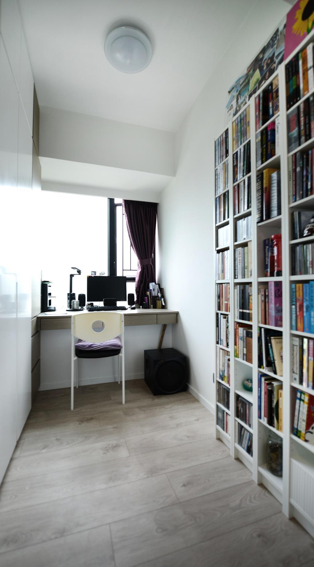 簡約, 私家樓, 書房, 顯峰, 室內設計師, 爾雋設計, 摩登