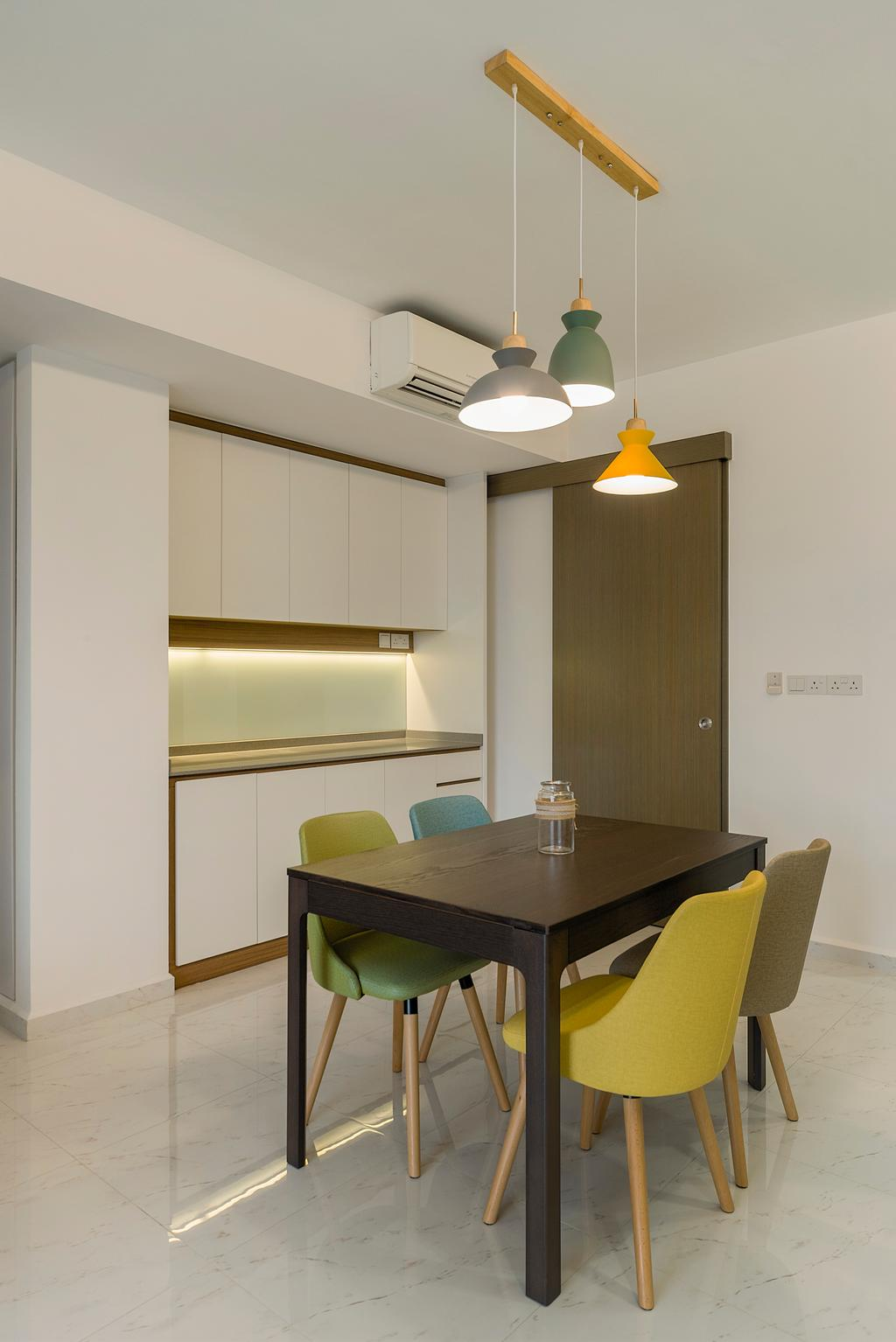 Contemporary, Condo, Dining Room, CityLife @ Tampines, Interior Designer, Cozy Ideas Interior Design