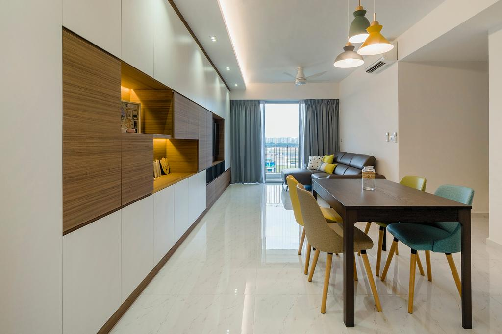 Contemporary, Condo, Living Room, CityLife @ Tampines, Interior Designer, Cozy Ideas Interior Design