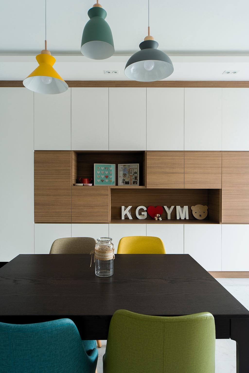 Contemporary, Condo, Dining Room, CityLife @ Tampines, Interior Designer, Cozy Ideas Interior Design