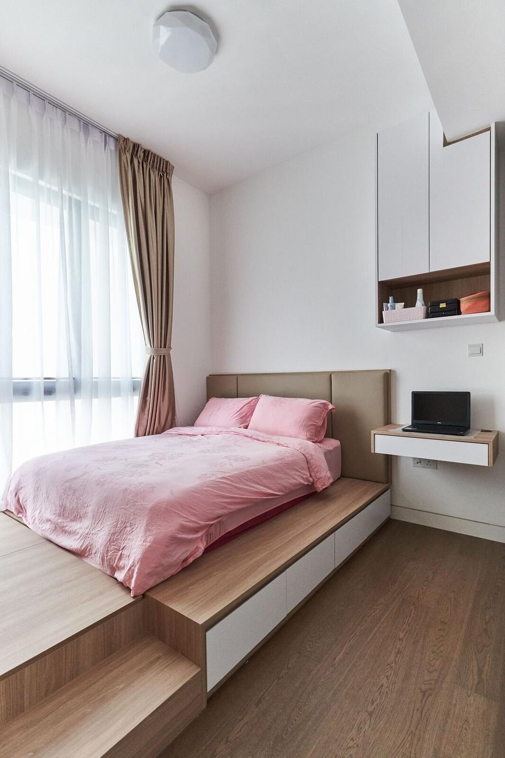 Contemporary, Condo, Bedroom, Highline Residences, Interior Designer, Charlotte's Carpentry