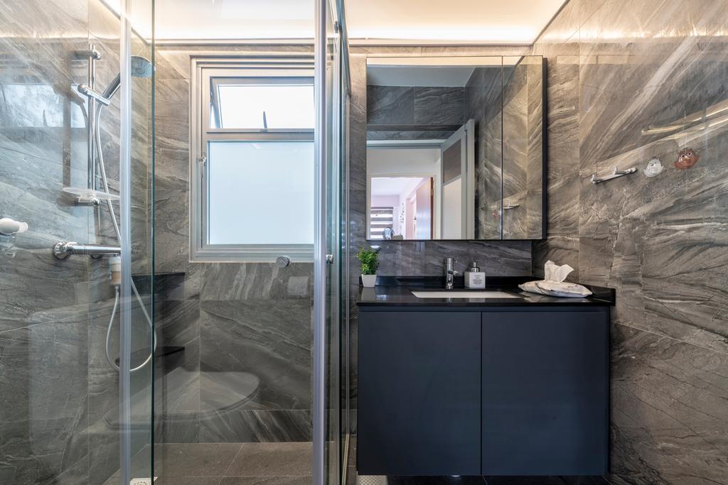Contemporary, HDB, Bathroom, Bukit Batok West Avenue 8, Interior Designer, Starry Homestead, Scandinavian