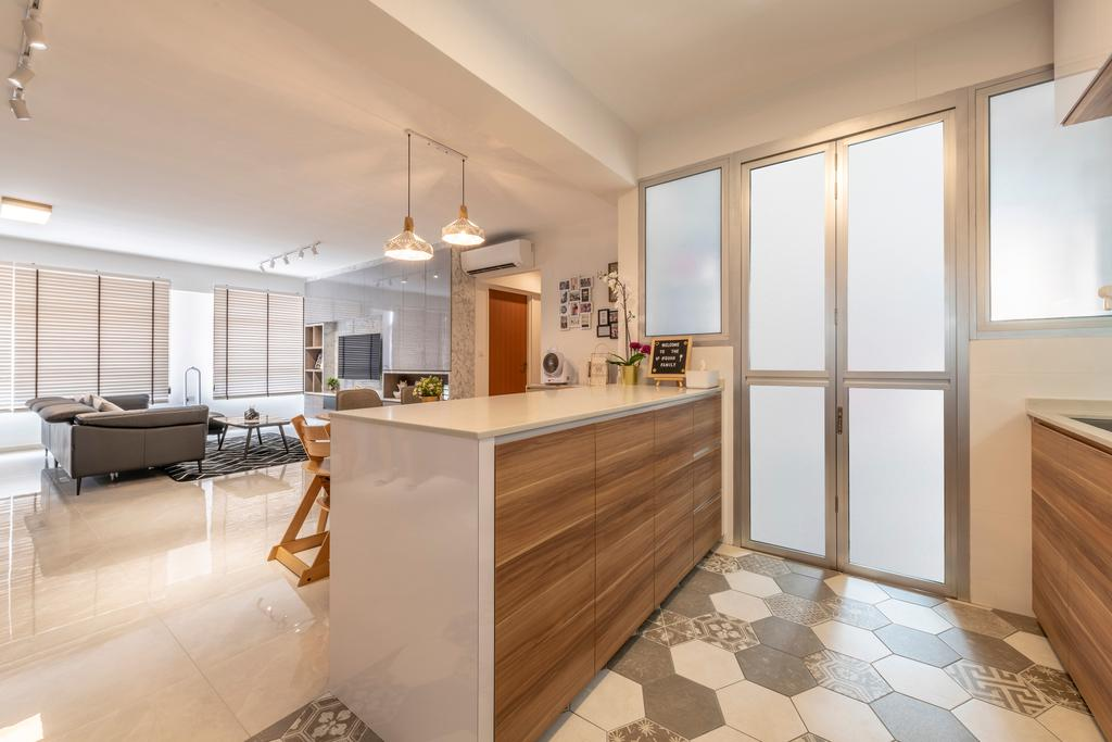 Contemporary, HDB, Kitchen, Bukit Batok West Avenue 8, Interior Designer, Starry Homestead, Scandinavian