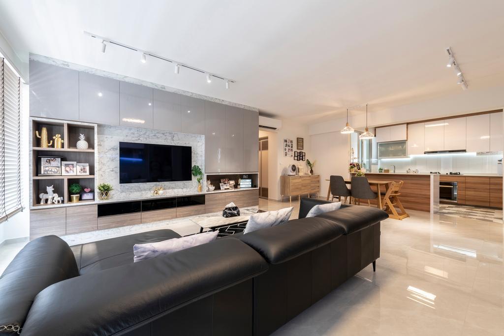 Contemporary, HDB, Living Room, Bukit Batok West Avenue 8, Interior Designer, Starry Homestead, Scandinavian