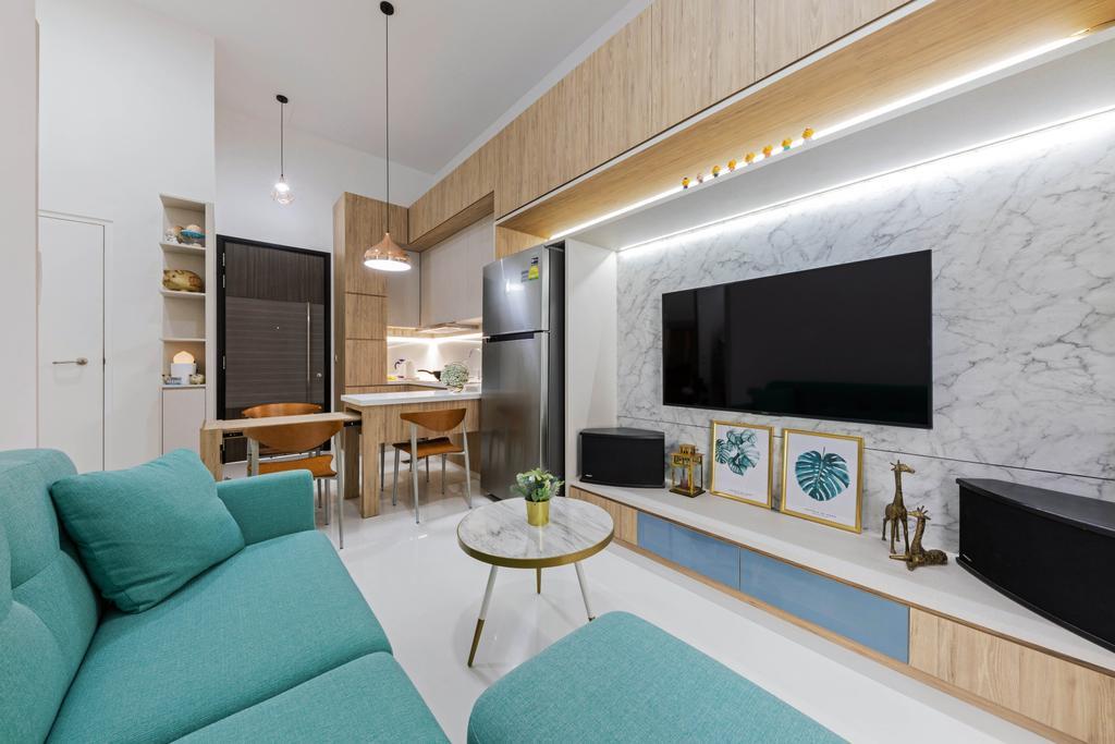 Contemporary, Condo, Living Room, Tivoli Grande, Interior Designer, Craftwerkz Interior