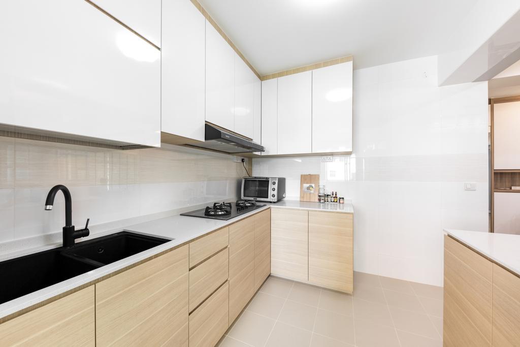 Contemporary, HDB, Kitchen, Canberra Street, Interior Designer, Starry Homestead