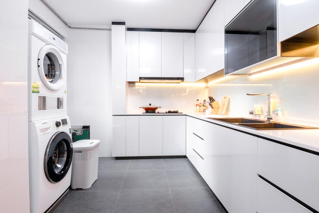 Contemporary, HDB, Kitchen, Tampines Street 81, Interior Designer, 9 Creation