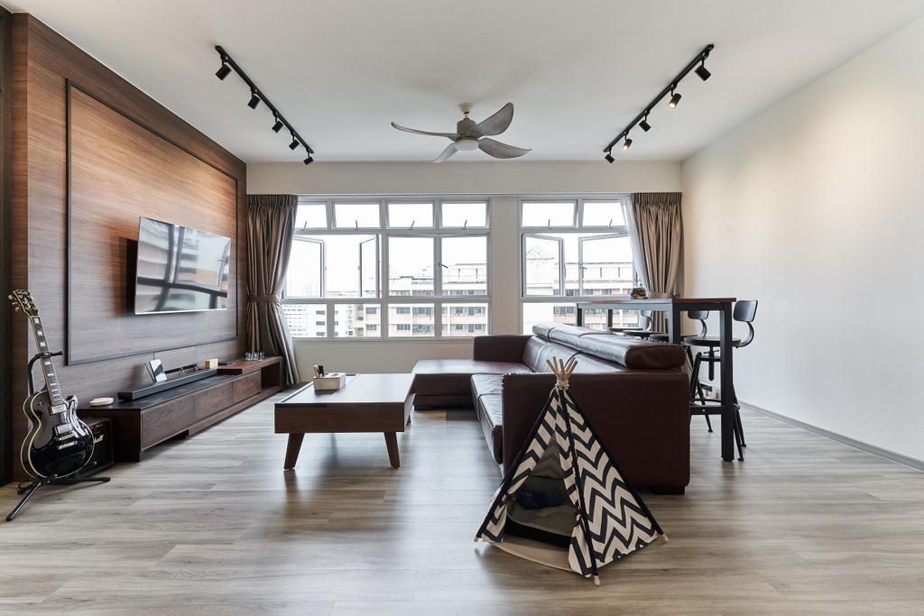 Contemporary, HDB, Living Room, Bukit Batok West, Interior Designer, Charlotte's Carpentry