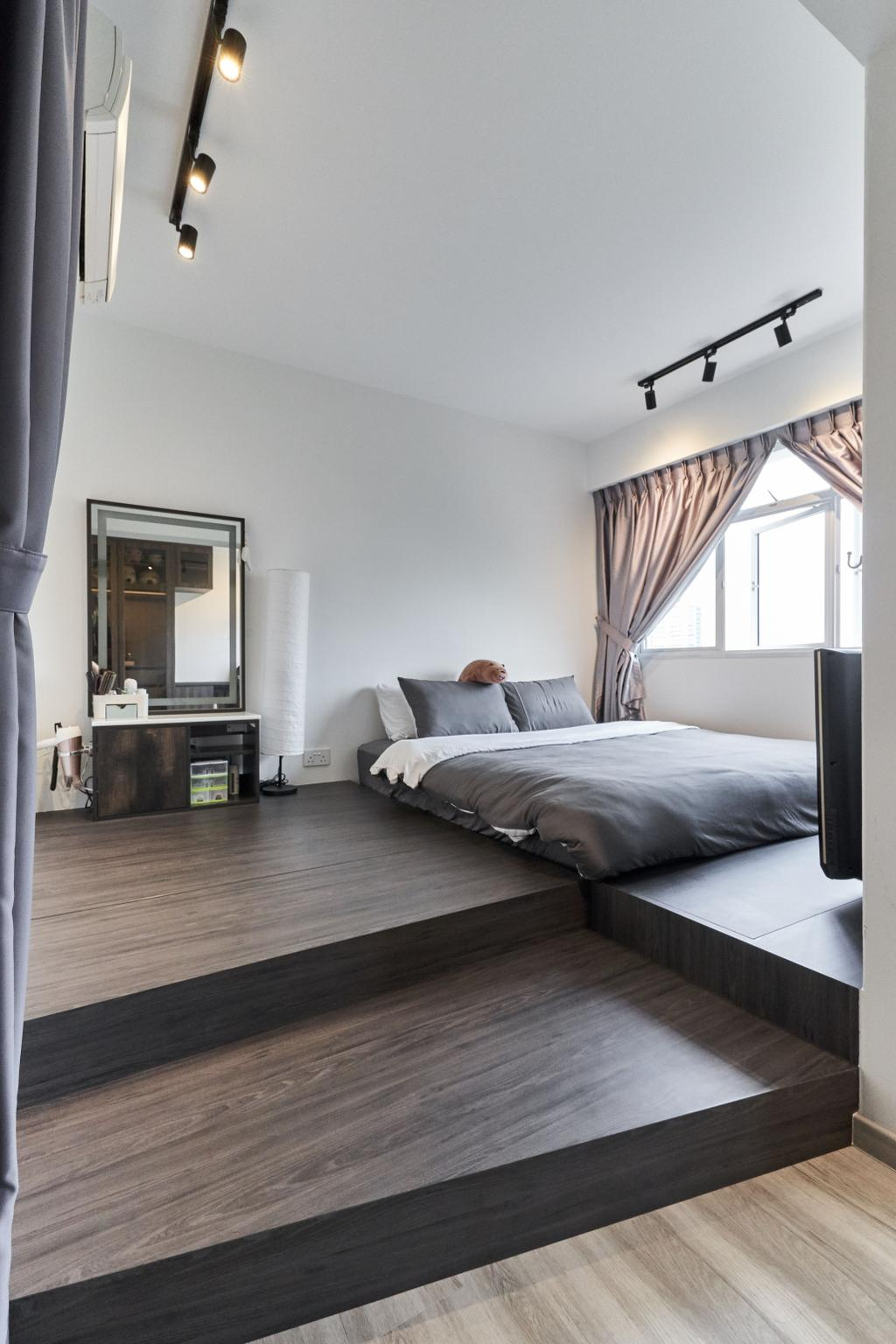 Contemporary, HDB, Bedroom, Bukit Batok West, Interior Designer, Charlotte's Carpentry