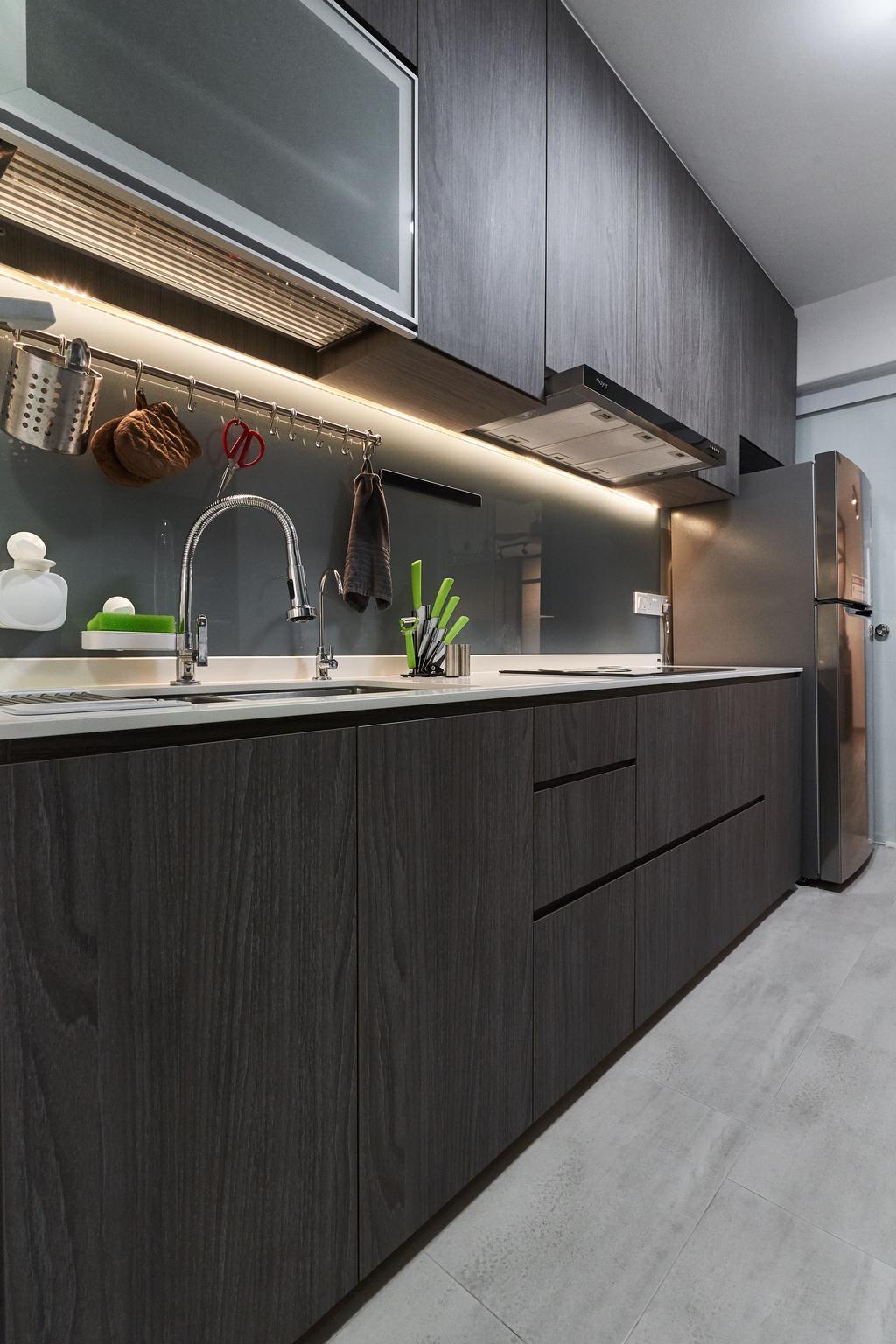 Contemporary, HDB, Kitchen, Bukit Batok West, Interior Designer, Charlotte's Carpentry