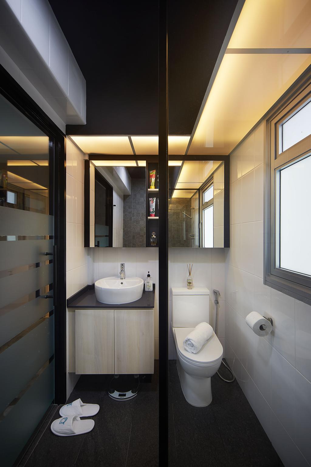 Modern, HDB, Bathroom, Woodlands Drive, Interior Designer, D5 Studio Image