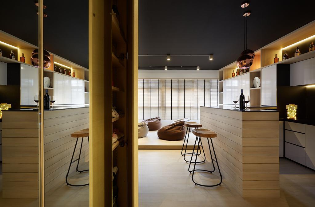 Modern, HDB, Living Room, Woodlands Drive, Interior Designer, D5 Studio Image