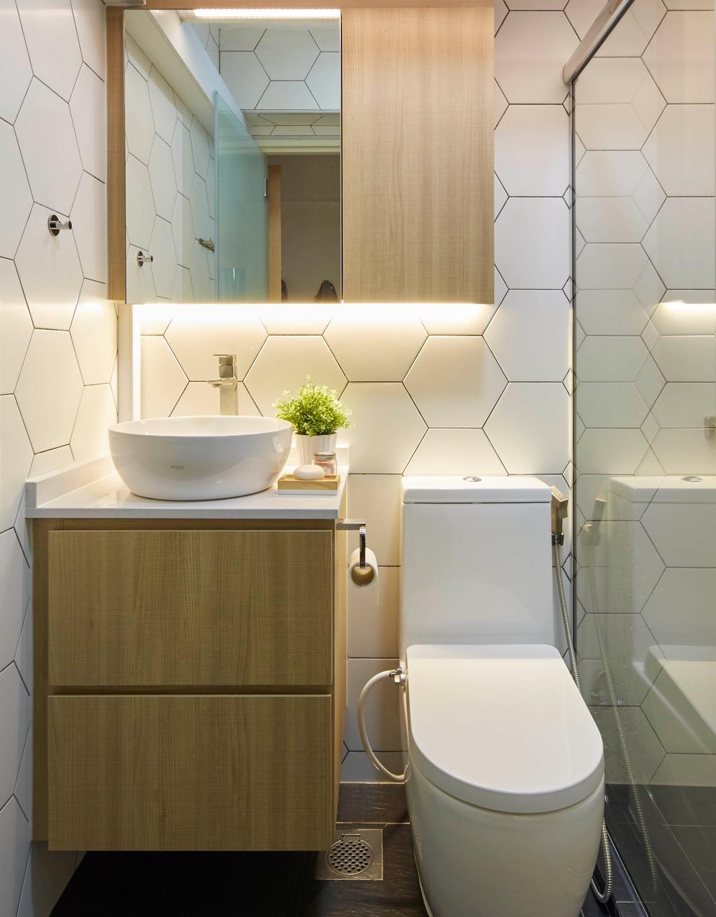 Scandinavian, HDB, Bathroom, Telok Blangah Street 31, Interior Designer, The Interior Lab