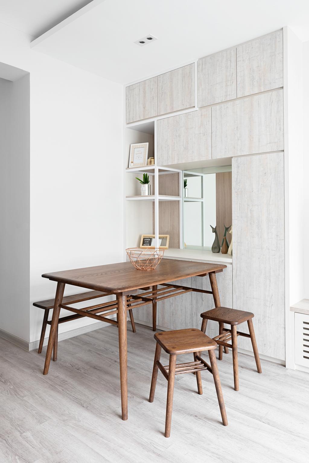 Scandinavian, HDB, Dining Room, Bukit Batok West Avenue 6, Interior Designer, The Makers Design Studio, Minimalistic