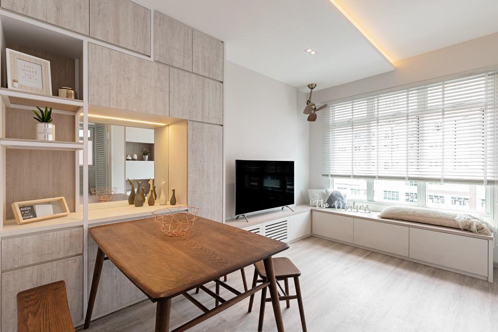 Scandinavian, HDB, Living Room, Bukit Batok West Avenue 6, Interior Designer, The Makers Design Studio, Minimalistic