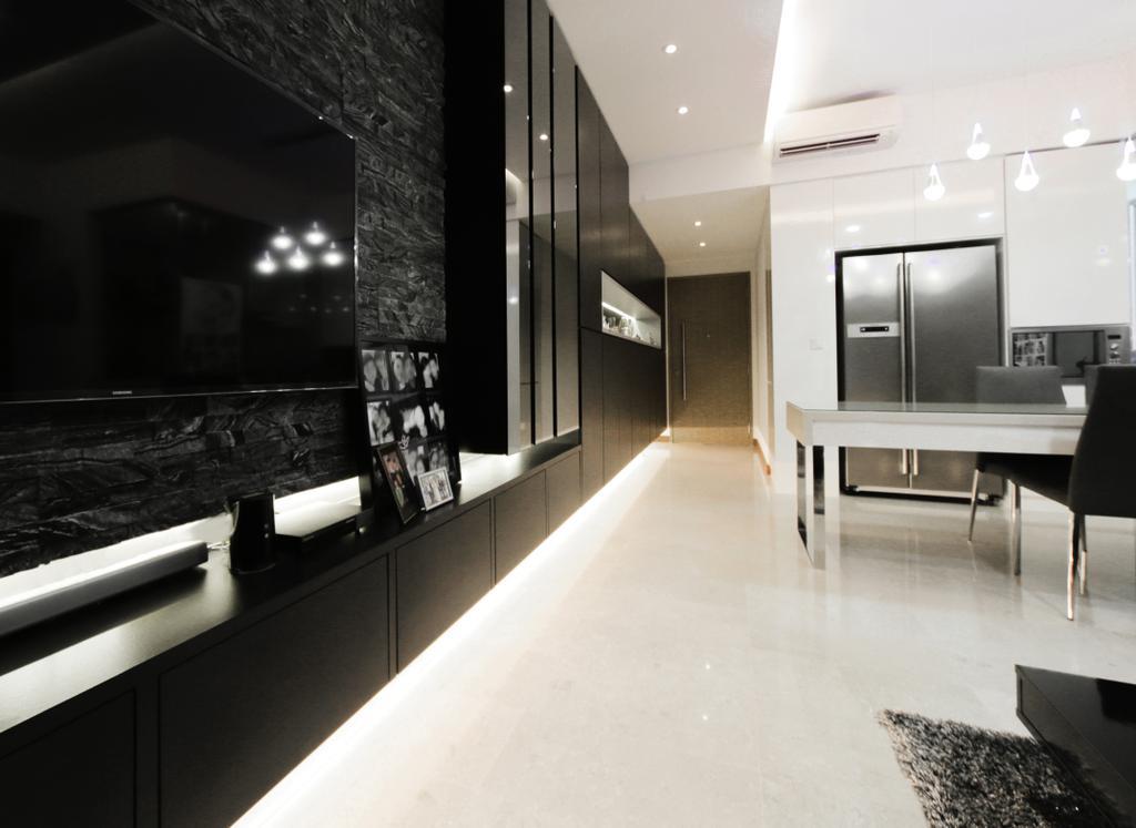 Contemporary, Condo, Living Room, Seastrand Condo, Interior Designer, Rockin Spaces