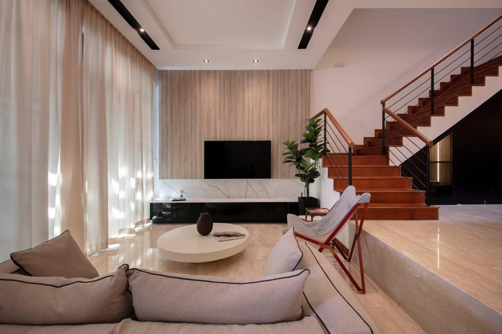 Contemporary, Landed, Living Room, La Salle Street, Interior Designer, Edge Interior