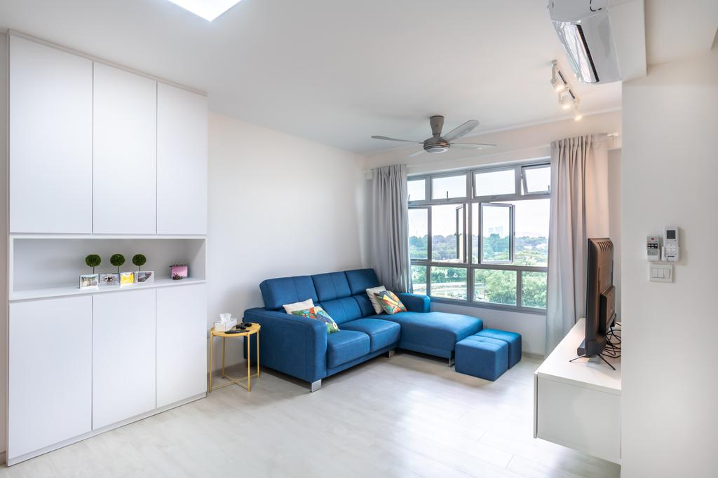 Contemporary, HDB, Living Room, Canberra Street, Interior Designer, NID Design Group