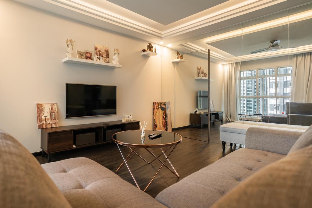 Contemporary, HDB, Living Room, Bukit Batok West Avenue 5, Interior Designer, NID Design Group