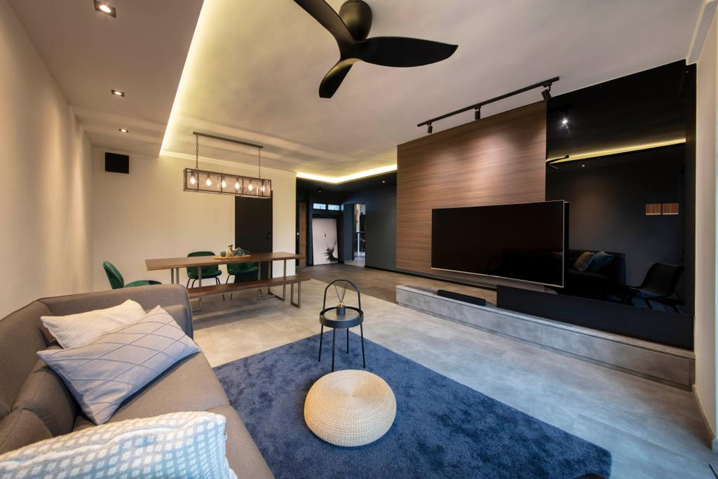 Contemporary, HDB, Living Room, Rivervale Drive, Interior Designer, ARK-hitecture