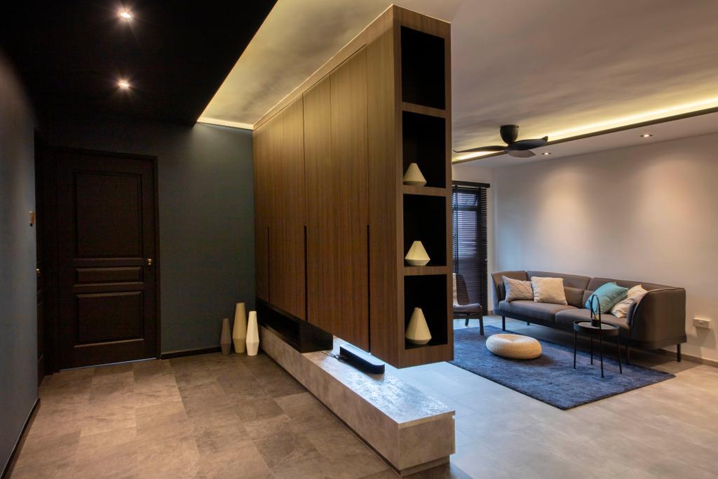 Contemporary, HDB, Rivervale Drive, Interior Designer, ARK-hitecture