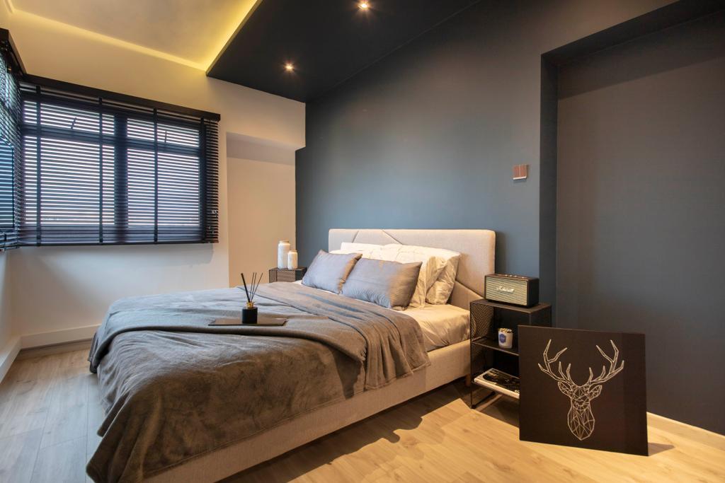 Contemporary, HDB, Bedroom, Rivervale Drive, Interior Designer, ARK-hitecture