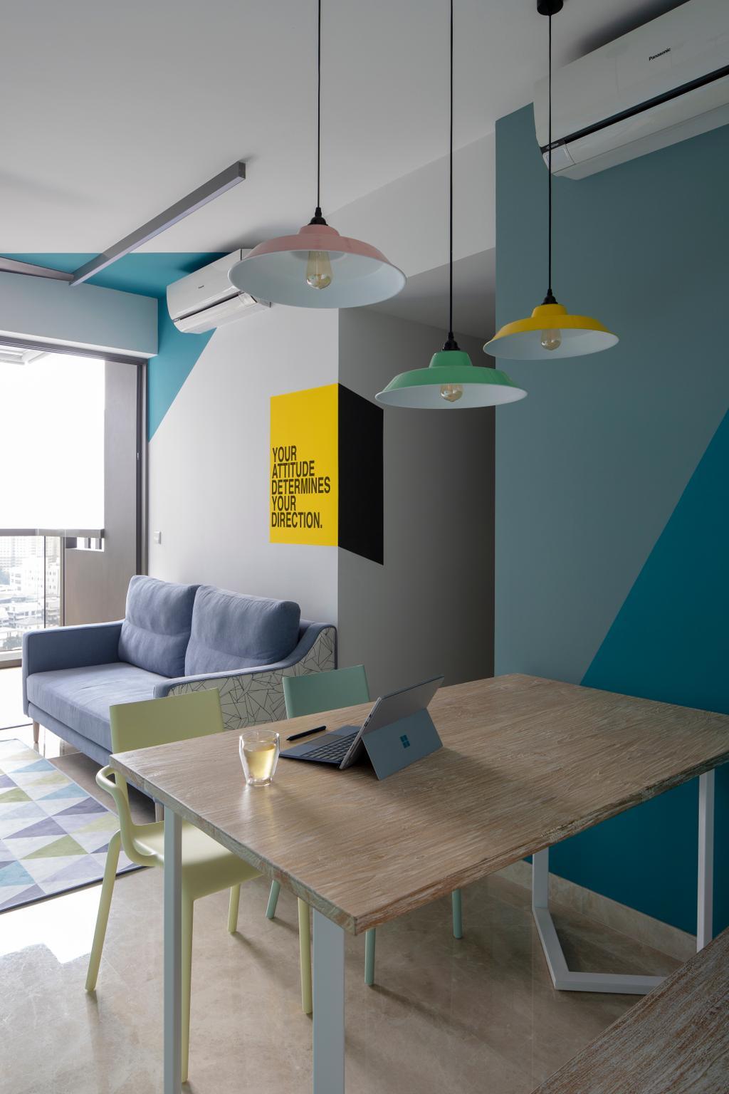 Contemporary, Condo, Dining Room, Commonwealth Towers, Interior Designer, Versaform