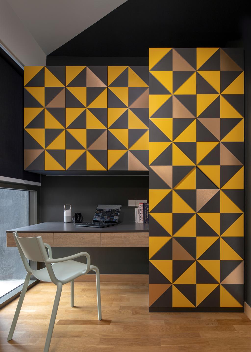 Contemporary, Condo, Study, Commonwealth Towers, Interior Designer, Versaform