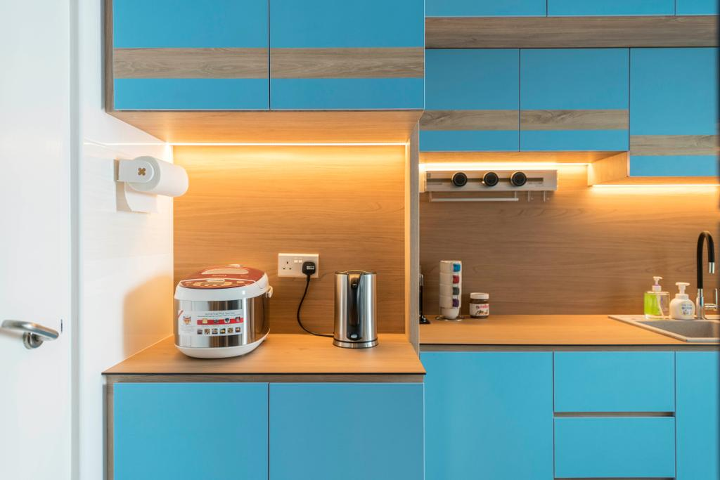 Scandinavian, HDB, Kitchen, Canberra Street, Interior Designer, Urban Home Design 二本設計家, Contemporary
