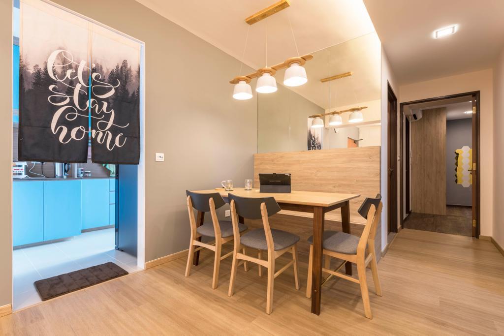 Scandinavian, HDB, Dining Room, Canberra Street, Interior Designer, Urban Home Design 二本設計家, Contemporary
